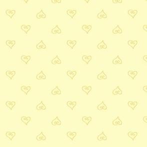 Daisy Dayz Tumbling Yellow Hearts