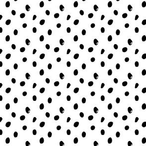 Black and white spots abstract geometric scandinavian pattern