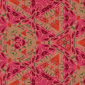Jaipur pink n persimmon
