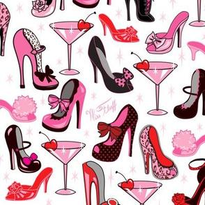 Retro Shoes and Pink Martinis- Medium