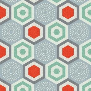 hexagon 7-mid century modern