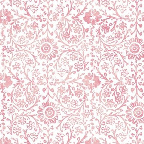 Indian Woodblock in Rose Pink