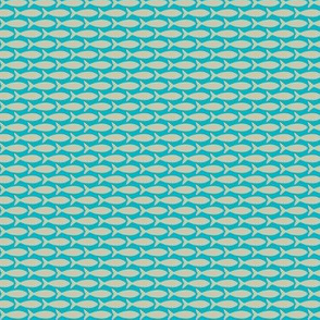 Tan Fish Graphic on Blue Background