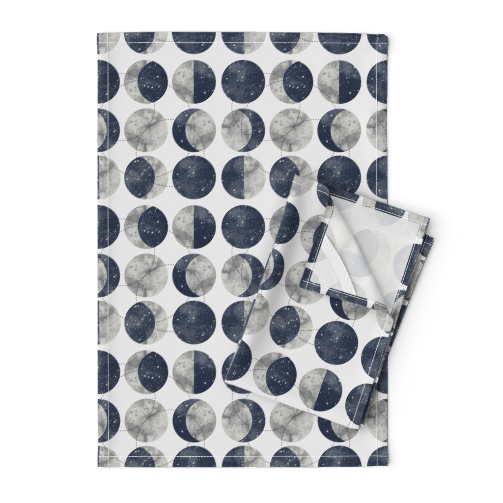 Orpington Tea Towels featuring Moon Phase Spot by mottle&daub