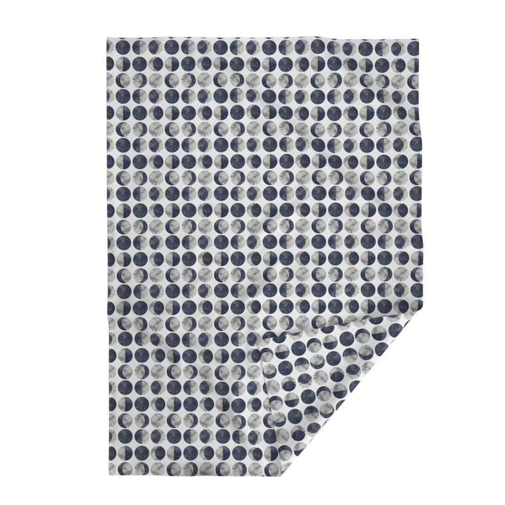 Lakenvelder Throw Blanket featuring Moon Phase Spot by mottle&daub