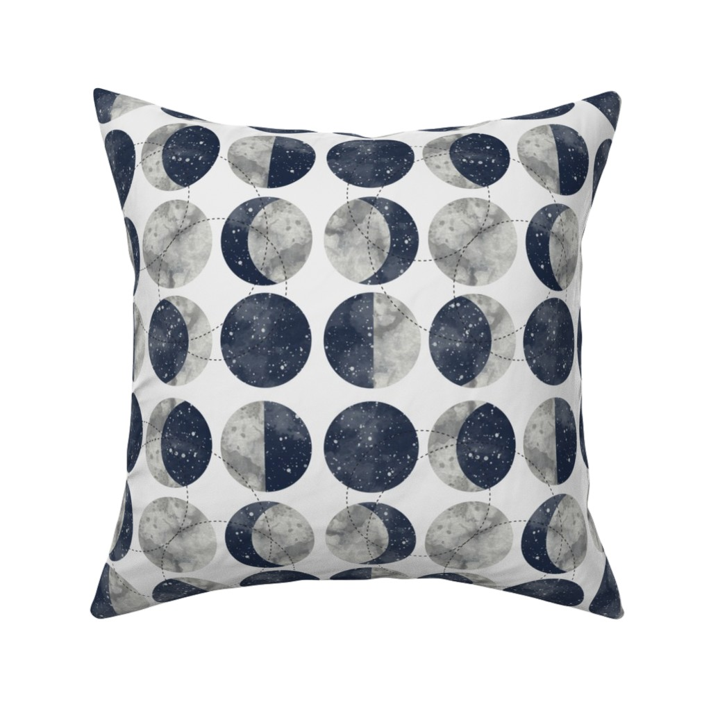 Catalan Throw Pillow featuring Moon Phase Spot by mottle&daub