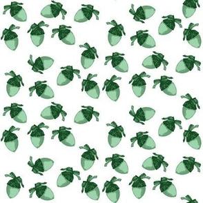 Acorn Print Green