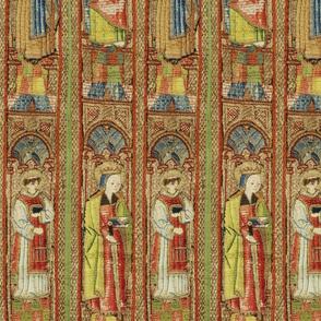 tapestry detail, saints