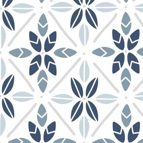 Blue Tile Leaves - Large
