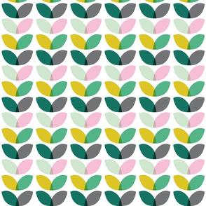 Geometric floral spring blooms scandi color pattern