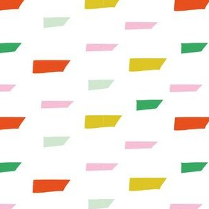Abstract geometric scandinavian mid century modern colourful shapes pattern