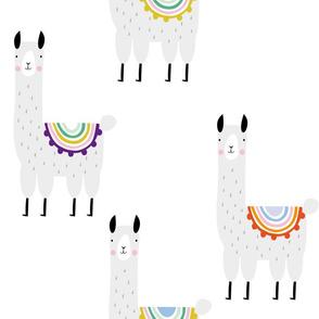 Cool Llama white pattern gender neutral alpaca