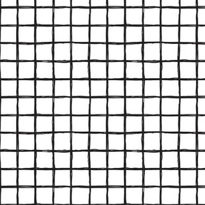 Abstract geometric black and white checkered stripe trend pattern grid MEDIUM