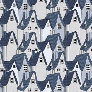 Miss Muffet's Cottages Blue