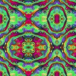 """6"""" bohemian CARAVAN mandala 4 RAINBOW bright multicolor PSMGE"""