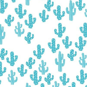 Blue cactus raw summer garden botanical cacti design