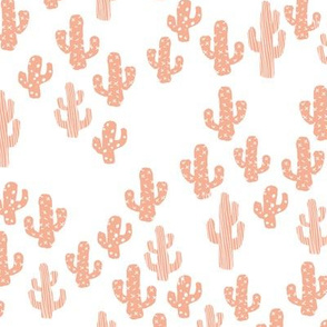Peach pink cactus raw summer garden botanical cacti design