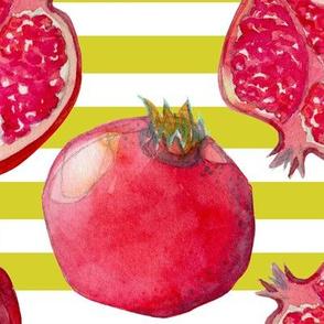 Pomegranate yellow/white