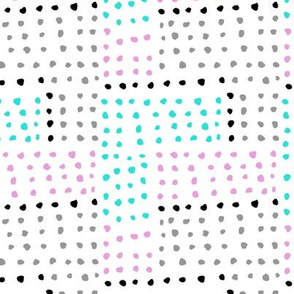 Watercolor Dots with Pink and Turquoise - Abstract Dots