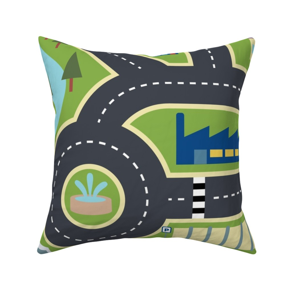 Catalan Throw Pillow featuring Town & Country Play Mat by seesawboomerang