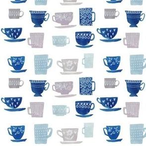 Watercolour tea cups