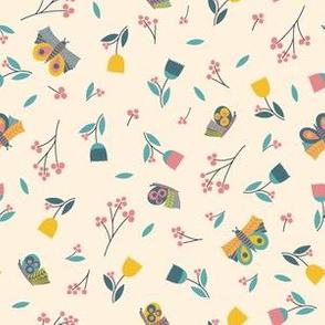 Butterflies - cream