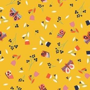 butterflies -yellow