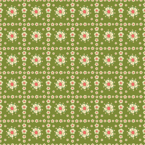 meadow teal flower tiles