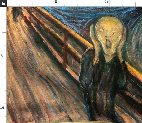 Fabric By The Yard Munch The Scream 1893 36 In
