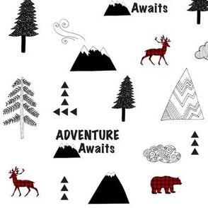 Adventure Awaits Buffalo Plaid