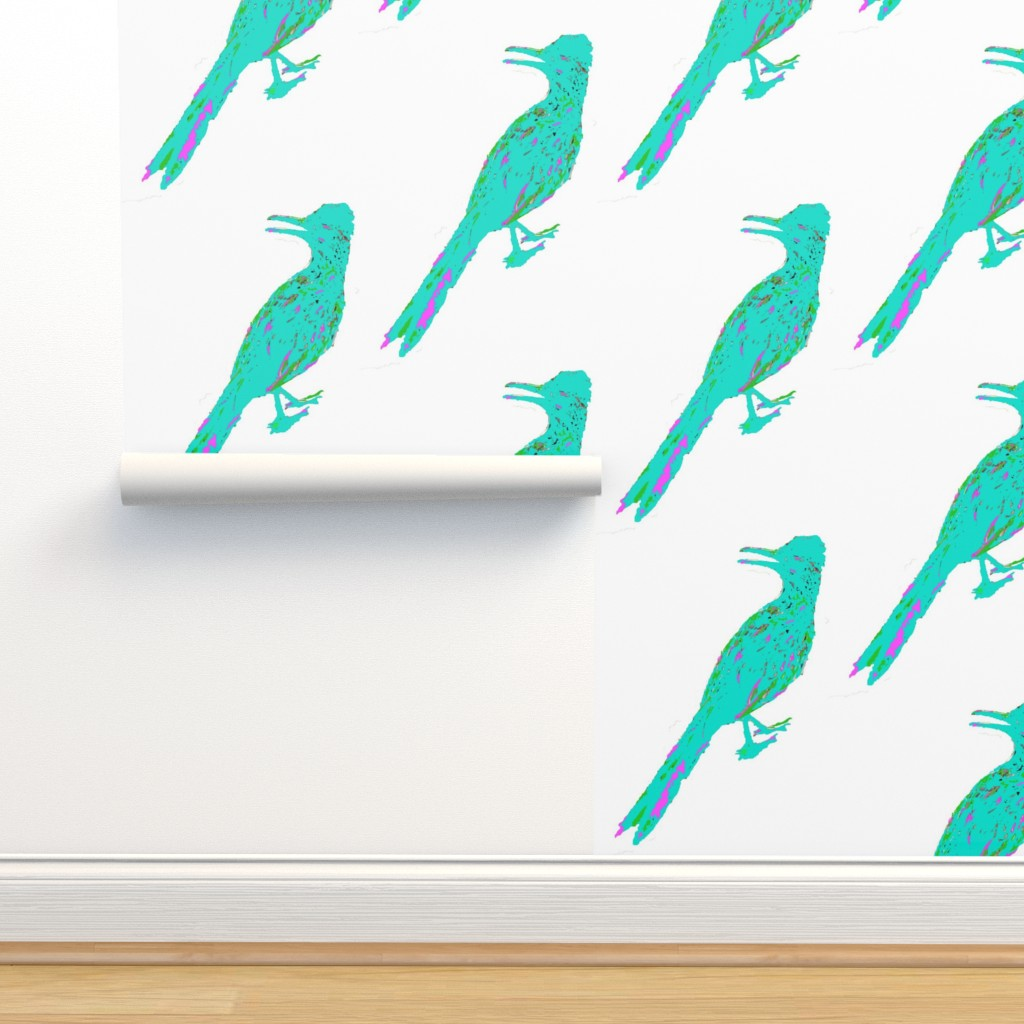 Isobar Durable Wallpaper featuring Roadrunner Aqua by creative_spaces