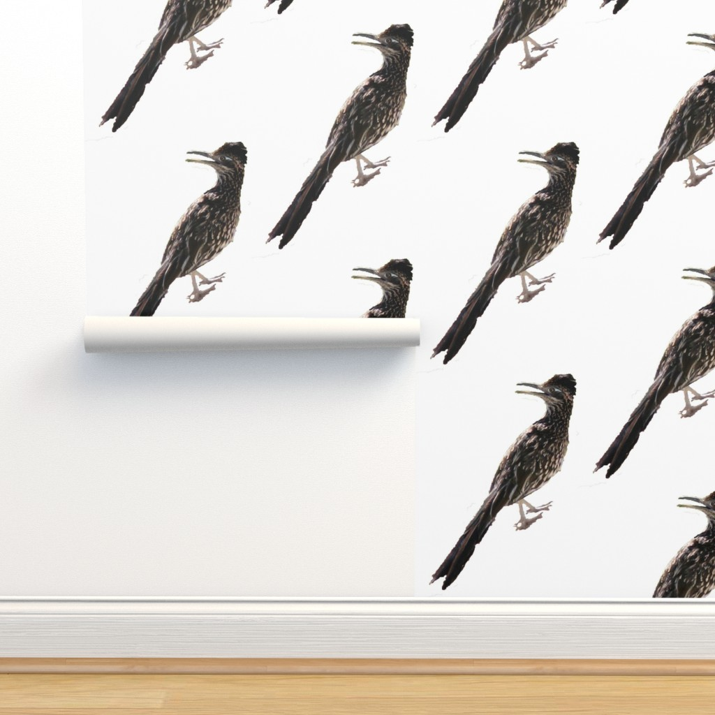 Isobar Durable Wallpaper featuring Roadrunner Brown by creative_spaces