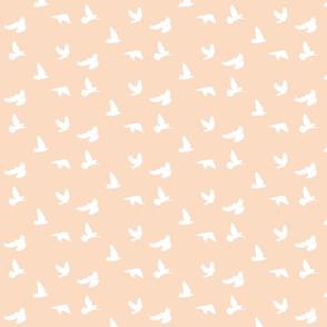 Doves in Flight Peach Blush
