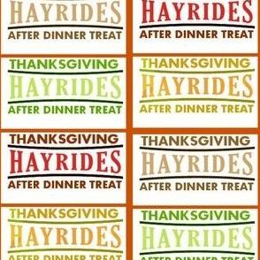 Thanksgiving Hayrides