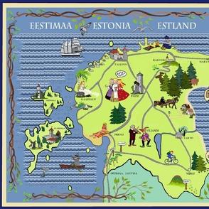 Estonian Illustrated Map