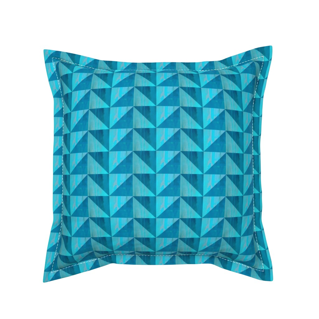 Serama Throw Pillow featuring geometric triangle paint textures by magentarosedesigns
