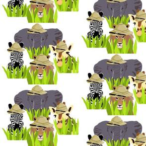 Safari_Animals_White