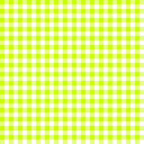 limelight green gingham
