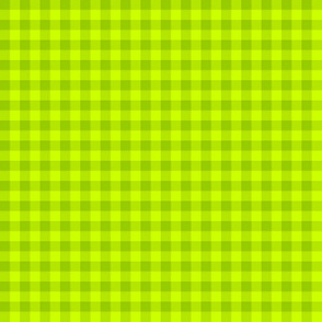 limeade green gingham