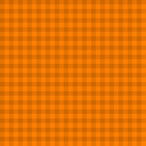 squash and orange gingham