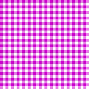 bright plum and white gingham