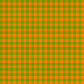 zucchini green and squash orange gingham