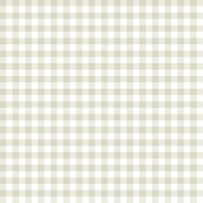 bisque and white gingham