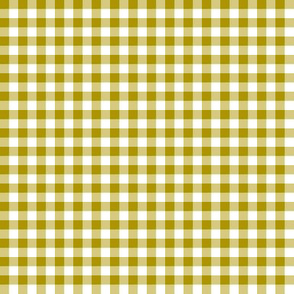 bronze and white gingham
