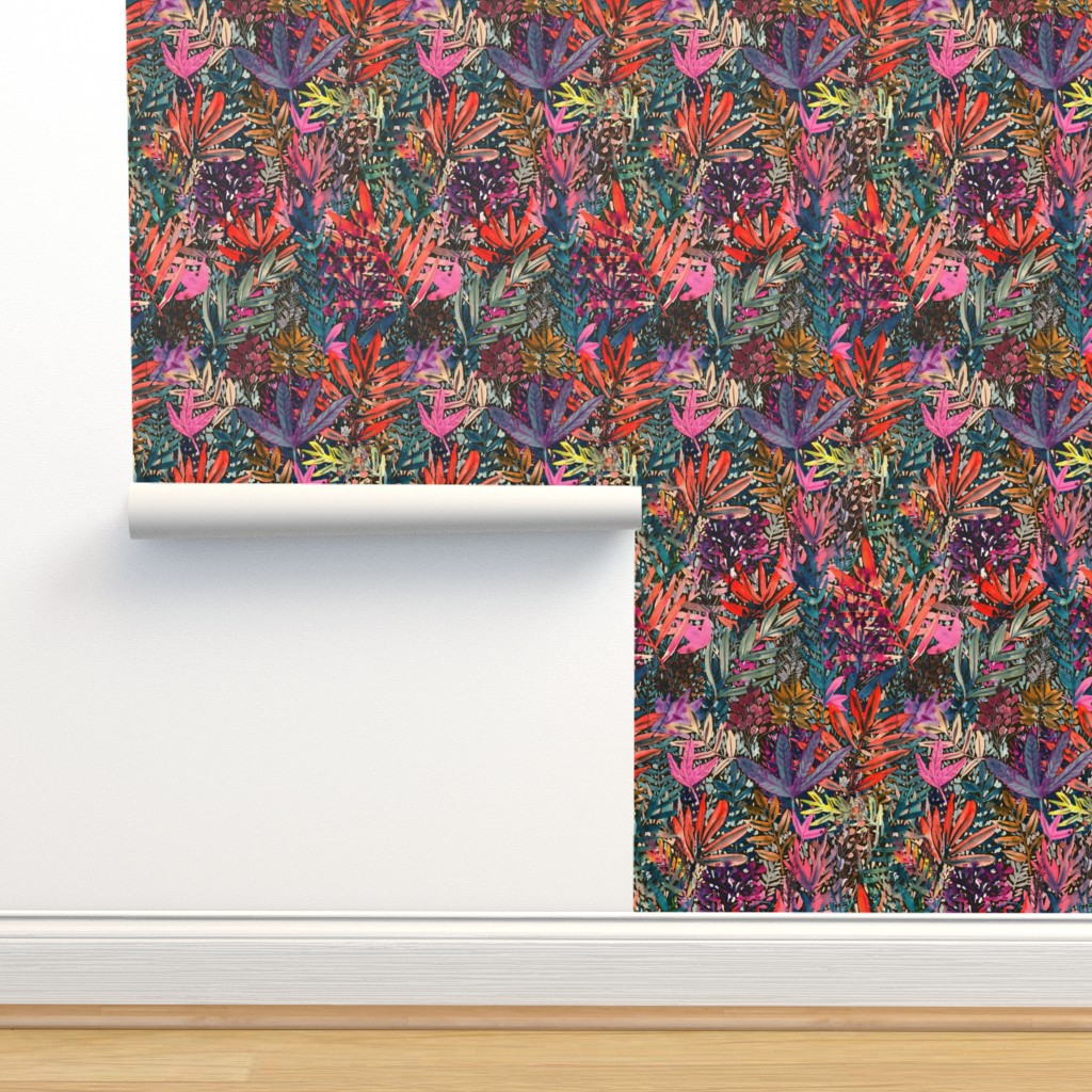 Isobar Durable Wallpaper featuring Fall Leaves Watercolor by rebecca_reck_art