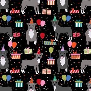 Pitbull birthday party presents dog breed fabric black