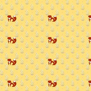 Fox in the Field - yellow