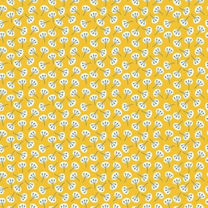 Seed Heads on Yellow mini