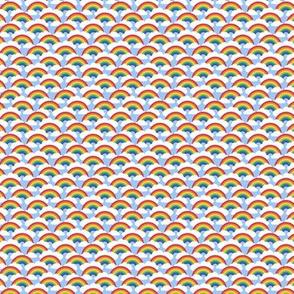 "1/2"" tiny circle rainbow - blue skies"