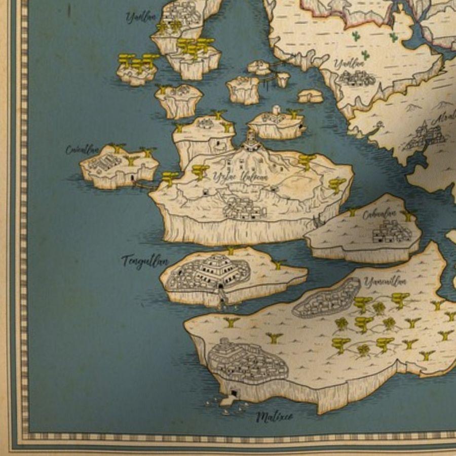 Huge map of fantasy world! - Spoonflower Huge Map on